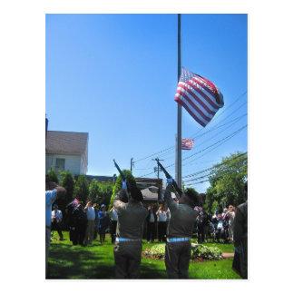 Memorial Day Salute Postcard