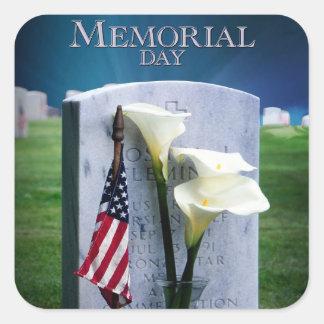 Memorial Day Square Sticker