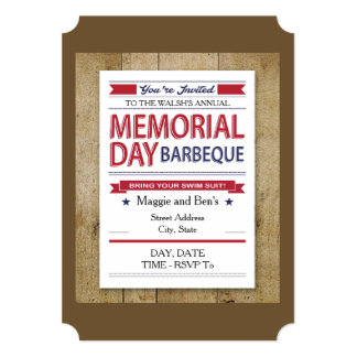 Memorial Day Style Memorial Day Party Invitations