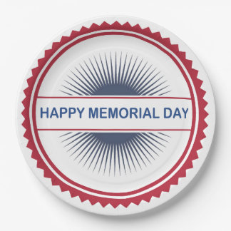 Memorial Day Style Memorial Day Party Paper Plates 9 Inch Paper Plate