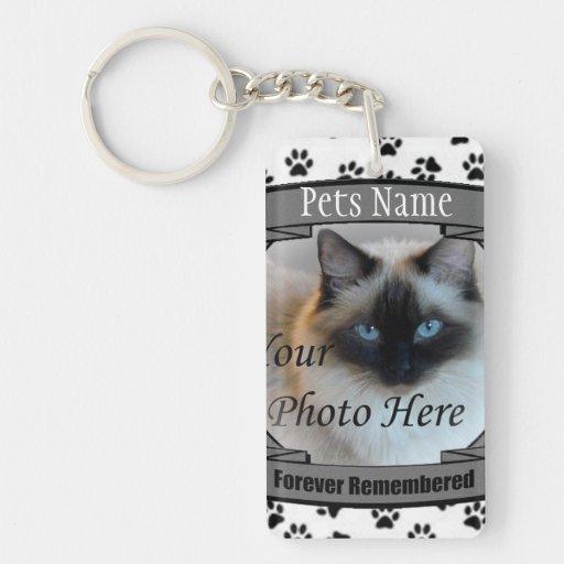 Mémorial de chat - pour toujours rappelé - chat de porte-clés