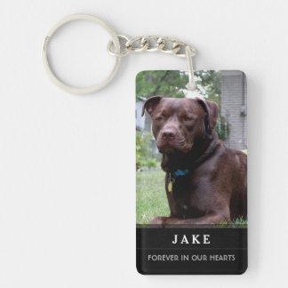 Mémorial de chien - ne vous affligez pas pour moi porte-clé rectangulaire en acrylique double face
