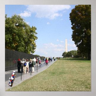 Mémorial de guerre de Vietnam Affiche