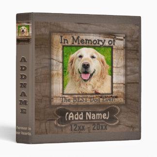 Mémorial de photo de chien classeurs 3 anneaux