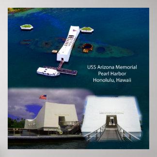 Mémorial d'USS Arizona, affiche de vues de Pearl H