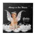 Memorial for Pet Golden Retriever Angel Dog Tile