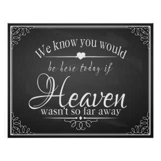Memorial for your loss at your wedding poster