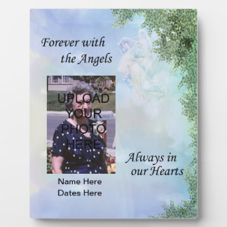 Memorial Forever with the Angels Plaque- Customize Photo Plaques