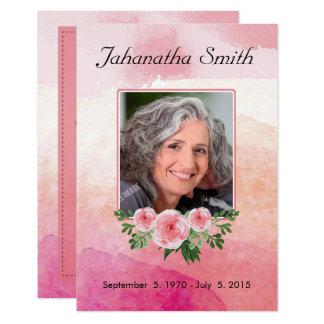 Memorial Funeral Card