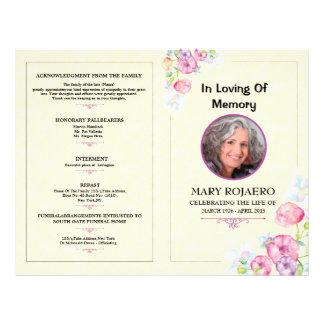 Memorial Funeral Program Template Flyer