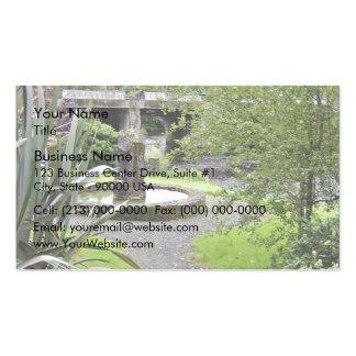 Memorial in pool business card