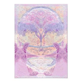 Memorial Invitation | Two Angels & Tree