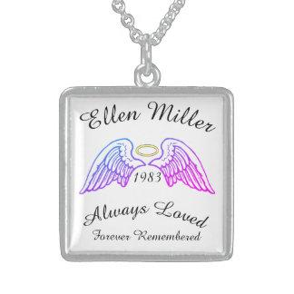 Memorial Keepsake Custom Pendant Lavender Pink