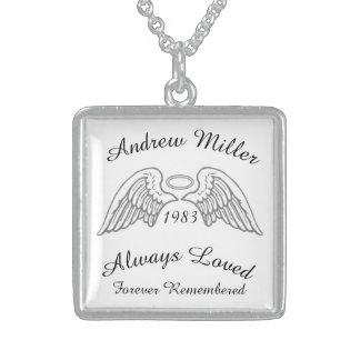 Memorial Keepsake Custom Pendant Silver and Grey