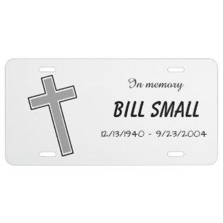 Memorial License Plate