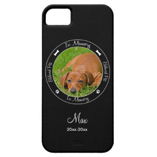 Memorial - Loss of Dog- Custom Photo/Name iPhone 5 Cover