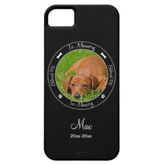 Memorial - Loss of Dog- Custom Photo/Name iPhone 5 Covers