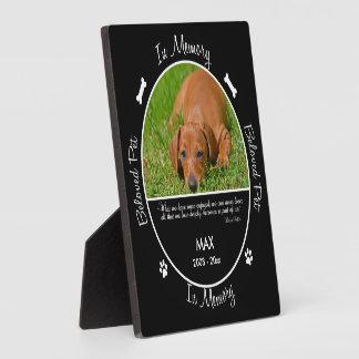Memorial - Loss of Dog- Custom Photo/Name Plaque