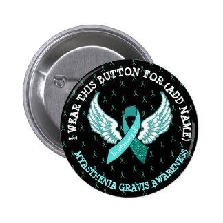 Memorial MG Warrior Awareness Ribbon Button