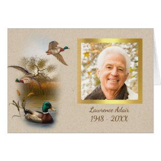 Memorial Photo Thank You Card