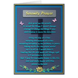 Memorial Serenity Prayer Card