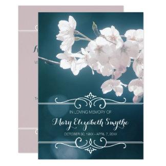 Memorial Service Cherry Blossoms Sakura Flowers Card