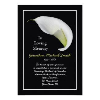 Memorial Service Invitation Announcement Template Invitations