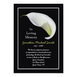 Memorial Service Invitation Announcement Template