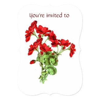 Memorial Service Invite Geranium Flower Art