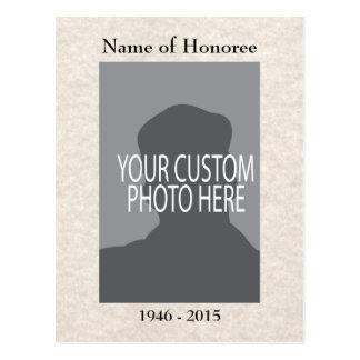 Memorial Service Memories Card with Photo Postcard
