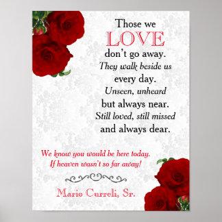 Memorial Sign 2 - Deep Red Rose Wedding
