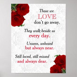 Memorial Sign - Deep Red Rose Wedding