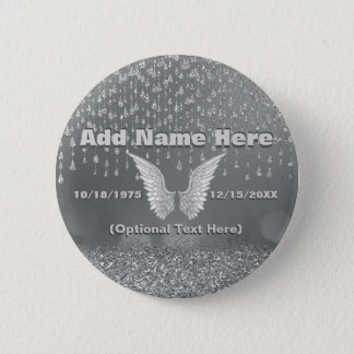 Memorial - Silver Tears 2 Inch Round Button