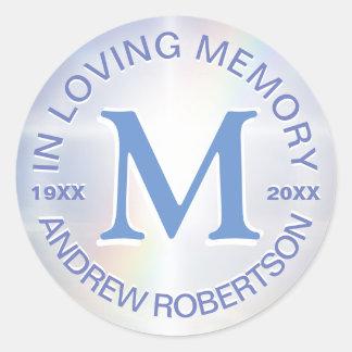 Memorial Sticker Monogram