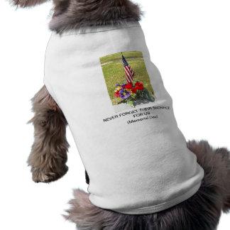 Memorial / Veterans Day Tribute Doggie Shirt