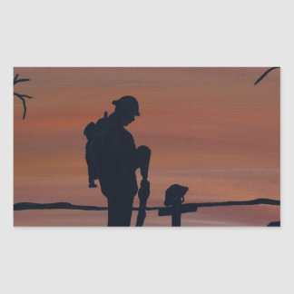 Memorial, Veternas Day, silhouette solider at grav