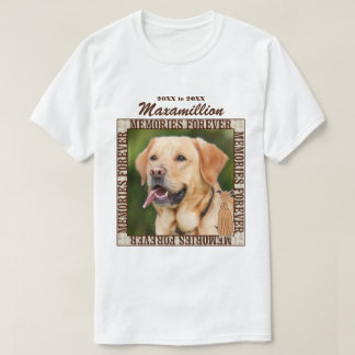 Memorialize Your Dog Custom Photo and Name T-Shirt