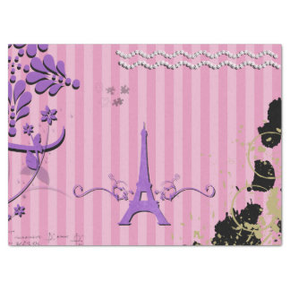 Memories from Paris - Pink Purple Tissue Paper