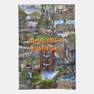 Memories of Amsterdam Photo Collage Hand Towels