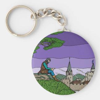 Memories of Camelot Basic Round Button Keychain