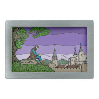 Memories of Camelot Rectangular Belt Buckle