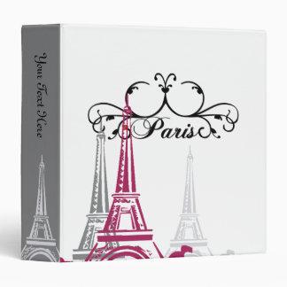 Memories of  Paris Vinyl Binders