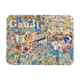 Memories. Park Güell. Great Mosaic. Part 1. Magnet