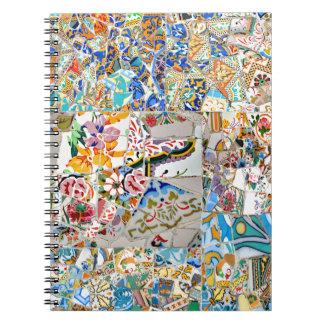 Memories. Park Güell. Great Mosaic. Part 1. Notebook