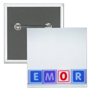 Memory. 2 Inch Square Button