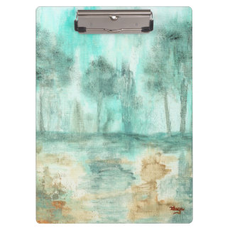 Memory,Abstract Landscape Trees Art Painting Clipboard