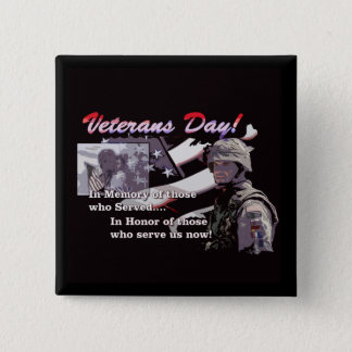 Memory And Honor Veterans Day Button