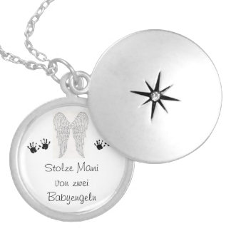 Memory chain of star twins silver plated necklace