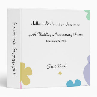 Memory/Guest Book, 40th Wedding Anniversary Party Vinyl Binder