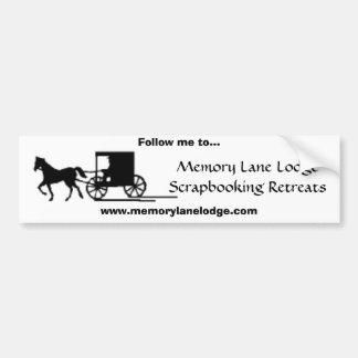 Memory Lane Lodge Bumper Sticker Car Bumper Sticker